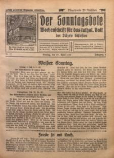 Der Sonntagsbote. Wochenschrift für das katholische Volk der Diözese Schlesien, 1930, Jg. 6, Nr. 17