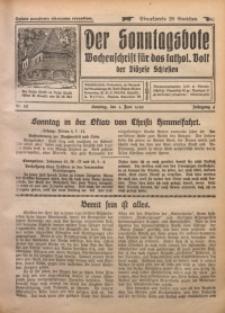 Der Sonntagsbote. Wochenschrift für das katholische Volk der Diözese Schlesien, 1930, Jg. 6, Nr. 22