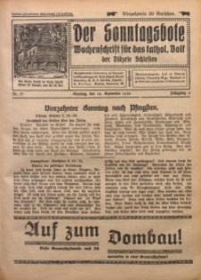 Der Sonntagsbote. Wochenschrift für das katholische Volk der Diözese Schlesien, 1930, Jg. 6, Nr. 37