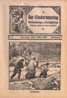 Der Kindersonntag, 1931, Jg. 7, Nr. 9