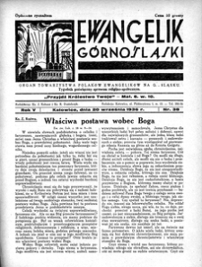 Ewangelik Górnośląski, 1936, R. 5, nr 38