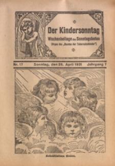 Der Kindersonntag, 1931, Jg. 7, Nr. 17