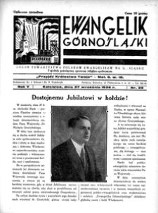 Ewangelik Górnośląski, 1936, R. 5, nr 39