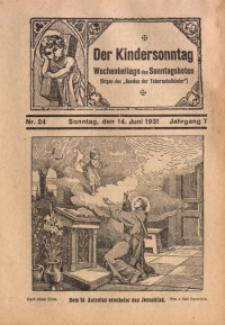 Der Kindersonntag, 1931, Jg. 7, Nr. 24
