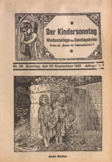 Der Kindersonntag, 1931, Jg. 7, Nr. 38