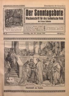 Der Sonntagsbote. Wochenschrift für das katholische Volk der Diözese Schlesien, 1931, Jg. 7, Nr. 3