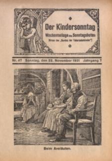 Der Kindersonntag, 1931, Jg. 7, Nr. 47