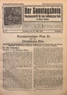 Der Sonntagsbote. Wochenschrift für das katholische Volk der Diözese Schlesien, 1931, Jg. 7, Nr. 13