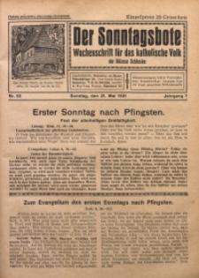 Der Sonntagsbote. Wochenschrift für das katholische Volk der Diözese Schlesien, 1931, Jg. 7, Nr. 22