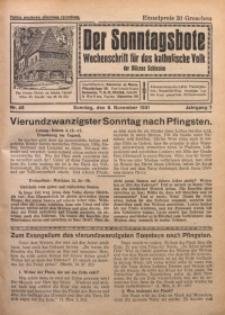 Der Sonntagsbote. Wochenschrift für das katholische Volk der Diözese Schlesien, 1931, Jg. 7, Nr. 45