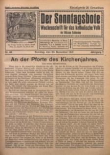 Der Sonntagsbote. Wochenschrift für das katholische Volk der Diözese Schlesien, 1931, Jg. 7, Nr. 48