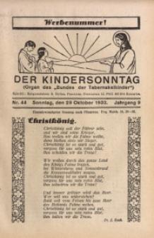 Der Kindersonntag, 1933, Jg. 9, Nr. 44