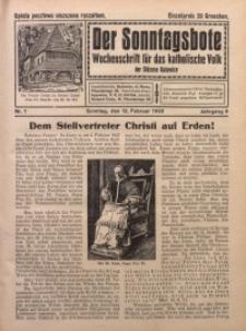 Der Sonntagsbote. Wochenschrift für das katholische Volk der Diözese Katowice, 1933, Jg. 9, Nr. 7