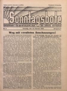 Der Sonntagsbote. Wochenschrift für das katholische Volk der Diözese Katowice, 1933, Jg. 9, Nr. 8
