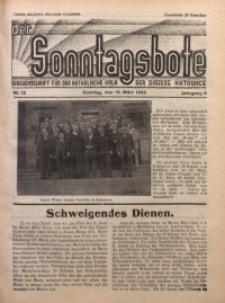 Der Sonntagsbote. Wochenschrift für das katholische Volk der Diözese Katowice, 1933, Jg. 9, Nr. 12