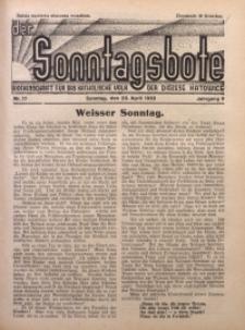 Der Sonntagsbote. Wochenschrift für das katholische Volk der Diözese Katowice, 1933, Jg. 9, Nr. 17