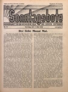 Der Sonntagsbote. Wochenschrift für das katholische Volk der Diözese Katowice, 1933, Jg. 9, Nr. 19