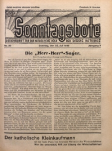 Der Sonntagsbote. Wochenschrift für das katholische Volk der Diözese Katowice, 1933, Jg. 9, Nr. 30