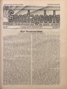 Der Sonntagsbote. Wochenschrift für das katholische Volk der Diözese Katowice, 1933, Jg. 9, Nr. 46