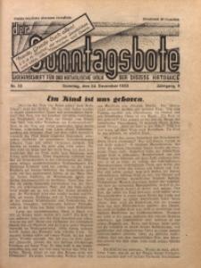Der Sonntagsbote. Wochenschrift für das katholische Volk der Diözese Katowice, 1933, Jg. 9, Nr. 52