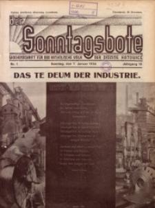 Der Sonntagsbote. Wochenschrift für das katholische Volk der Diözese Katowice, 1934, Jg. 10, Nr. 1