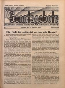 Der Sonntagsbote. Wochenschrift für das katholische Volk der Diözese Katowice, 1934, Jg. 10, Nr. 7