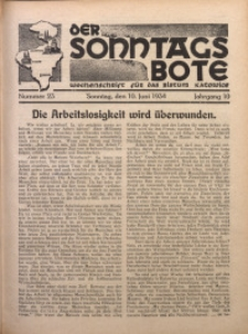 Der Sonntagsbote. Wochenschrift für das katholische Volk der Diözese Katowice, 1934, Jg. 10, Nr. 23