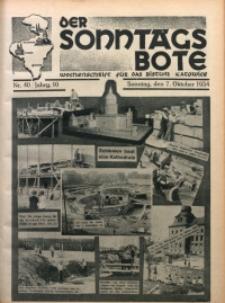 Der Sonntagsbote. Wochenschrift für das katholische Volk der Diözese Katowice, 1934, Jg. 10, Nr. 40