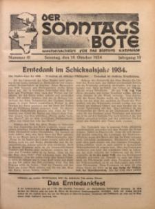 Der Sonntagsbote. Wochenschrift für das katholische Volk der Diözese Katowice, 1934, Jg. 10, Nr. 41