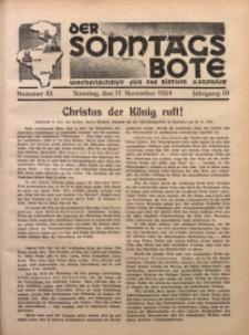 Der Sonntagsbote. Wochenschrift für das katholische Volk der Diözese Katowice, 1934, Jg. 10, Nr. 45