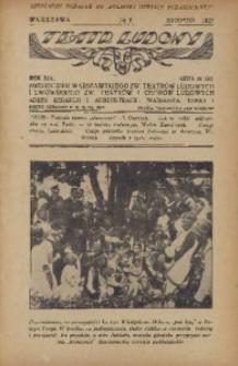 Teatr Ludowy, 1927, R. 19, nr 8