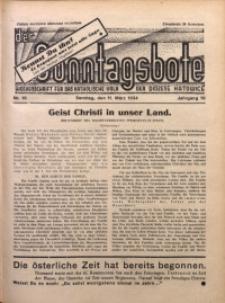 Der Sonntagsbote. Wochenschrift für das katholische Volk der Diözese Katowice, 1934, Jg. 10, Nr. 10