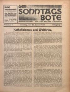 Der Sonntagsbote. Wochenschrift für das Bistum Katowice, 1935, Jg. 11, Nr. 4