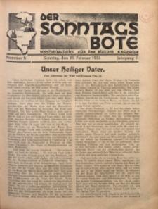 Der Sonntagsbote. Wochenschrift für das Bistum Katowice, 1935, Jg. 11, Nr. 6