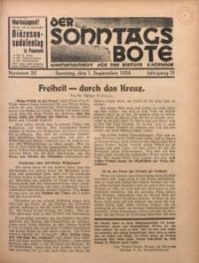 Der Sonntagsbote. Wochenschrift für das Bistum Katowice, 1935, Jg. 11, Nr. 35