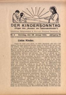 Der Kindersonntag, 1934, Jg. 10, Nr. 4