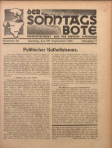 Der Sonntagsbote. Wochenschrift für das Bistum Katowice, 1935, Jg. 11, Nr. 38