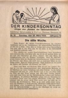 Der Kindersonntag, 1934, Jg. 10, Nr. 12