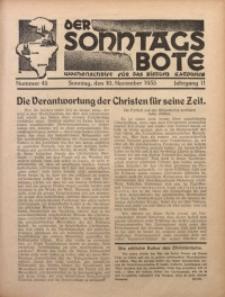 Der Sonntagsbote. Wochenschrift für das Bistum Katowice, 1935, Jg. 11, Nr. 45