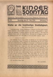 Der Kindersonntag, 1934, Jg. 10, Nr. 20