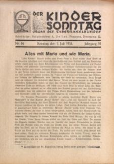 Der Kindersonntag, 1934, Jg. 10, Nr. 26