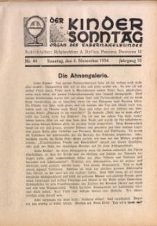 Der Kindersonntag, 1934, Jg. 10, Nr. 44