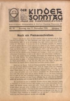 Der Kindersonntag, 1934, Jg. 10, Nr. 45