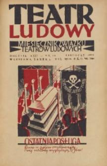 Teatr Ludowy, 1930, R. 22, nr 11