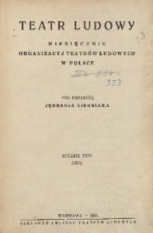 Teatr Ludowy. Spis treści R. 23 (1931)