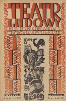 Teatr Ludowy, 1931, R. 23, nr 4