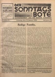 Der Sonntagsbote. Wochenschrift für das Bistum Katowice, 1936, Jg. 12, Nr. 2