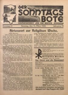 Der Sonntagsbote. Wochenschrift für das Bistum Katowice, 1936, Jg. 12, Nr. 11