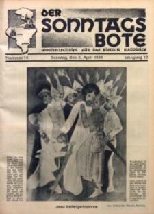 Der Sonntagsbote. Wochenschrift für das Bistum Katowice, 1936, Jg. 12, Nr. 14