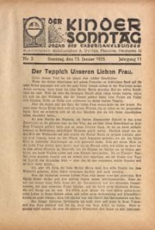 Der Kindersonntag, 1935, Jg. 11, Nr. 2